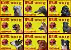 Beware Of The Dog Signs This Dog Is Not Vegetarian  Various Breeds set1