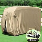 4 Passenger Golf Cart Cover Fits EZ GO, Club Car, Storage W Zipper Storage Cover