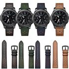 22MM Genuine Leather Strap Watch Band For Samsung Gear S3 Frontier Classic
