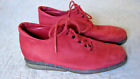 Arche Red Suede Ankle Boots 6.5  37.5 EU Leather France Lace Up Rare Shoe Oxford