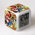 New Super Mario Bro Alarm Clock 7-Color Changing Anime Alarm Clock in Box Gift