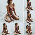 Women Fashion Padded Bra Bandage Swimsuit Push-up Bikini Set Swimwear Beachwear