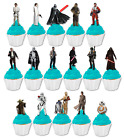 #603. Star Wars premium stand up edible cupcake cake toppers birthday images $13.95 AUD