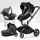 hot mom Baby Stroller 3 in 1 high view buggy travel Bassinet Pushchair&car seat