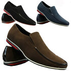 NEW MENS FAUX SUEDE DESIGNER ITALIAN LOAFERS CASUAL BOAT MOCCASIN DRIVING SHOES