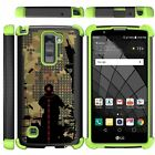 For LG Stylus 2 Plus / Stylo 2 Plus Case Dual Layer Stand Defender Green Cover