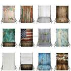 US 3x5ft Vintage Wooden Photography Backdrops Kids Baby Photos Props Wall Decor