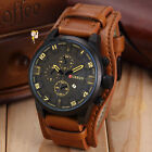 Vogue Luxury Curren Men's Date Stainless Steel Leather Analog Quartz Sport Watch