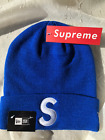 _SUPREME S HAT NEW ERA 2017 Box Logo Knitted  Beanie Black White Red All Colors