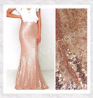 Made in USA - New Rose Gold Sequin Maxi Mermaid Skirt S M L XL