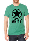 Men's Army Circle Star BK Green Tri-Blend T Shirt C2 Military Navy Camo SALE!