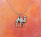 """Camel Necklace, pick 16""""-36"""" silver chain, for men or women, Egypt Egyptian Hump"""
