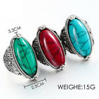 Chic 925 Sliver Filled 3 Colors Natural Oval Turquoise Wedding Jewellry Gifts