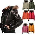 Ladies Padded Bubble Puffer Hooded Womens Jacket Coat Top Outerwear Faux Fur