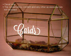 """""""Cards"""" Wedding Wishing Well Sign Decal Sticker - Decal only"""