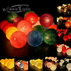 GaiaShine Cotton Balls String Lights Fairy Wedding Party Decoration Lamps XMAS