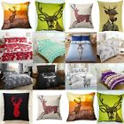 New Snow White Stag Deer Duvet Cover Set and Pillowcase Winter Grey Purple White