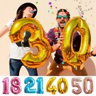 16 18 21 30 40 50th Birthday Foil Number Helium Age Balloons Wedding Party Decor