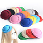 hat for small head - 1 Pcs Women Small Fedoras Solid Hat Handmade Cap For Cocktail Party Head Dress