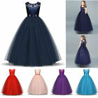 Flower Girl Dress Maxi Long Formal Ball Gown for Kids Teens