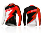 Spakct  Cycling Comfortable Men's Summer Long Sleeve Jersey -Lightning Red