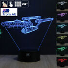 3D Star Trek USS Enterprise Acrylic LED Night Light 7 Colors Table Lamp Kid Gift
