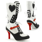 PLEASER FUNTASMA Referee-200 Black/WhiteRed Sports Fancy Dress Mid Calf Boots