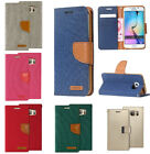 For Samsung GALAXY S7 Leather Flip Wallet Case Cell Phone Cover Pouch Stand Fold
