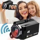 WiFi 4K HD 1080P 48MP 16X ZOOM Digital Video Camera Camcorder DV Night Vision US