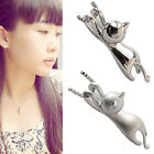 Fashion Women Silver Plated Cat Chain Pendant Necklace Charm Jewelry Chic NEWLY