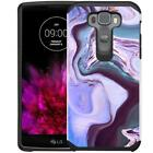 Marble Design Hybrid Case Dual Layer Protective Cover for LG G Flex 2 (LS996)