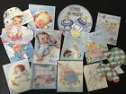 BB55 -- Lot of 13 Adorable Baby Boy Baby Shower DIE CUTS 4 crafts making