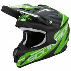 Scorpion VX-15 Gamma Black Green Full Face Motocross Motorcycle Helmet