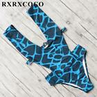 Women's Swimwear Printed One Piece Push Up With Pad Backless Beach Swimming Suit
