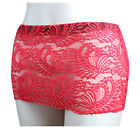 LADIES WOMENS GIRLS RED LACE 8 INCH MINI SKIRT MICRO MINI SKIRT SIZE 6 to 16