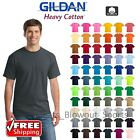 Gildan Mens T-Shirts Plain Solid Cotton Short Sleeve Blank T