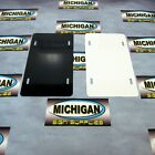 Thick Two-Sided Gloss White/Black .040 Aluminum License Plate Blank