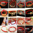 Men Women Chinese Feng Shui Red String Wealth Lucky Charms Bracelet Lover Gift image
