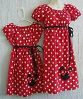 Mother & Daughter Matching Dress Minnie Mouse 70's Inspired Red Size S M L Rare