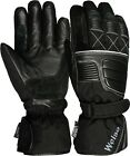 Weise Black Mens Leather Nylon Grid Waterproof Motorcycle Gloves New
