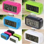 LED Digital Electronic Alarm Clock Backlight Time With Calendar + Thermometer @1