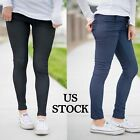 Women Fleece Lined Jeggings Full Length Warm High Waist Soft Stretchy Solid Slim