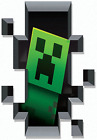 Mine Craft Creeper Head In Black Hole & More  Vinyl Wall Sticker Various Size