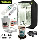 Complete Hydroponic Grow Room Tent Fan Filter CFL Light Kit small CANNA