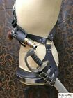 Pirate leather baldric for latex sword with opt. holster. Fits saber type sword!