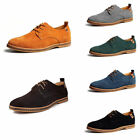 Mens Suede Leather Shoes Oxfords Formal Dress Business Casual Flats Loafers