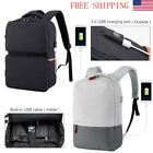 "15.6"" Anti-Theft Water-Resistant Laptop Backpack Computer School Bag+USB Port"