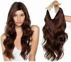 Long Wavy Hidden Invisible Wire Headband Crown Extensions 100% Human Hair 120g