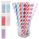 Drinking Paper Straws Party Striped Kids Retro Vintage Birthday Summer Cocktail