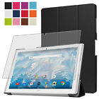 SMART COVER + SCHUTZ FOLIE ACER ICONIA ONE 10 (B3-A40 B3-A42) ETUI CSAE +PEN-3